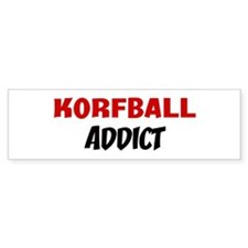 Korfball Addict Bumper Bumper Sticker