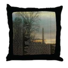 Washington D.C. Reflections Throw Pillow
