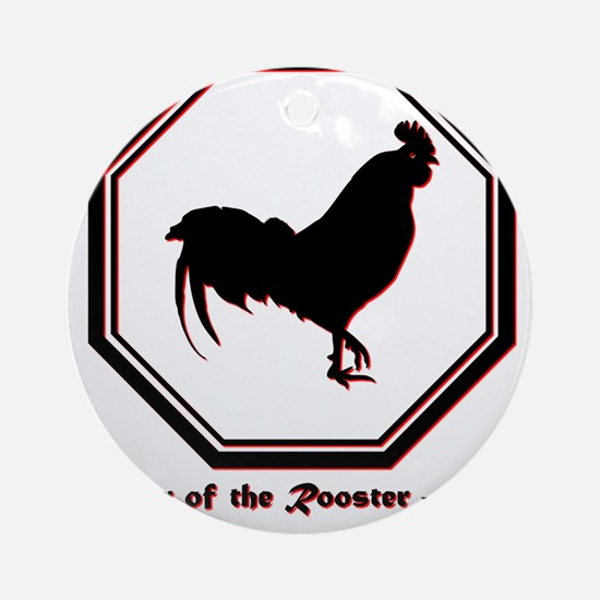 Year of the Rooster - 1957 Round Ornament