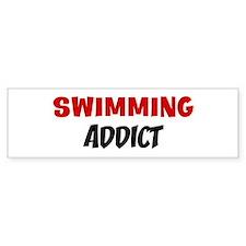 Swimming Addict Bumper Bumper Sticker