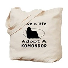 Adopt A Komondor Dog Tote Bag