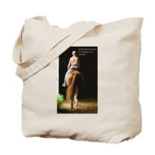 about you and your horse tote bag (with saying)