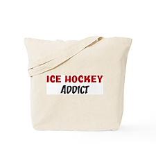 Ice Hockey Addict Tote Bag