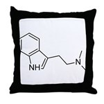 DMT Chemical Structure Throw Pillow