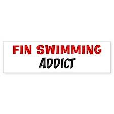 Fin Swimming Addict Bumper Bumper Sticker