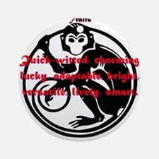 Year of the Monkey - Traits Round Ornament
