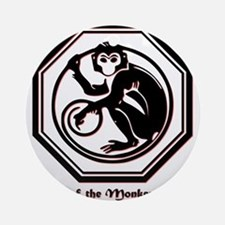 Year of the Monkey - 1992 Round Ornament
