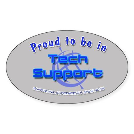 Tech Support Oval Sticker