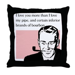 Valentine - I love you more... Throw Pillow