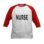 Nurse (Front) Kids Baseball Jersey
