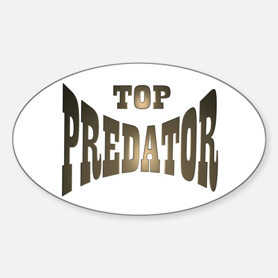 TOP PREDATOR Oval Decal