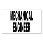 Mechanical Engineer Rectangle Sticker