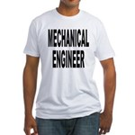Mechanical Engineer (Front) Fitted T-Shirt