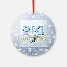 Ski Wyoming Ornament (Round)