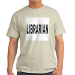 Librarian (Front) Ash Grey T-Shirt