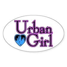 Urban Girl City Life Oval Decal
