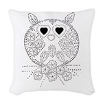 emma walters memories.owl. Woven Throw Pillow