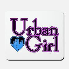 Urban Girl City Life Mousepad