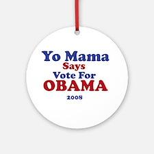 Obama Ornament (Round)