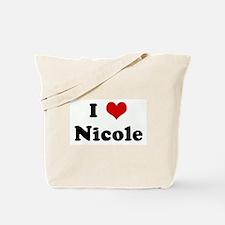 I Love Nicole Tote Bag