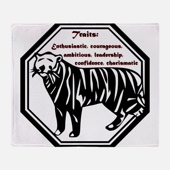 Year of the Tiger - Traits Throw Blanket