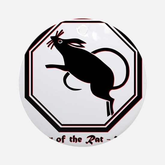 Year of the Rat - 2020 Round Ornament