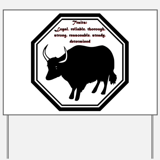 Year of the Ox - Traits Yard Sign