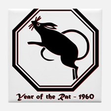 Year of the Rat - 1960 Tile Coaster