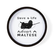 Adopt A Maltese Dog Wall Clock