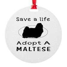 Adopt A Maltese Dog Ornament