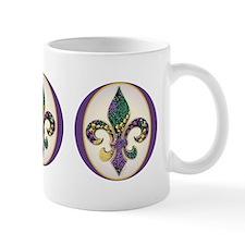 Fleur de lis Mardi Gras Beads Mug