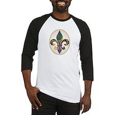 Fleur de lis Mardi Gras Beads Baseball Jersey