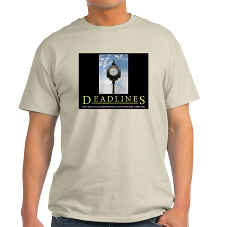 DEADLINES Art Ash Grey T-Shirt