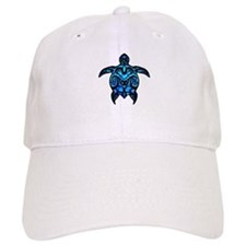 Black Tribal Turtle Baseball Baseball Cap