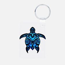 Black Tribal Turtle Keychains