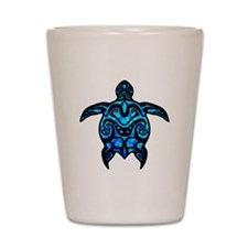 Black Tribal Turtle Shot Glass