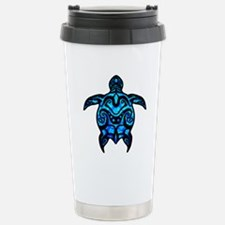 Black Tribal Turtle Travel Mug