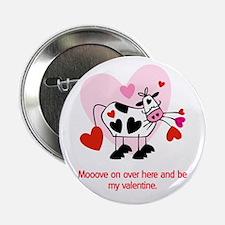 Valentine Cow Button
