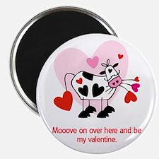 "Valentine Cow 2.25"" Magnet (10 pack)"