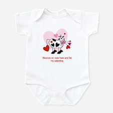 Valentine Cow Infant Bodysuit