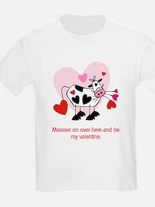 Valentine Cow Kids T-Shirt