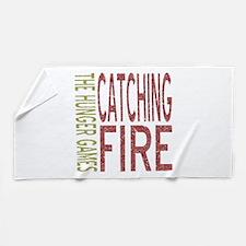 Catching Fire Hunger Games Beach Towel