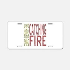 Catching Fire Hunger Games Aluminum License Plate