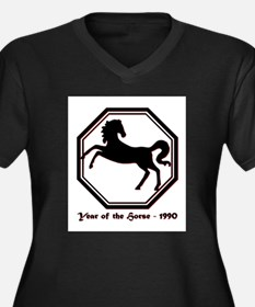 Year of the Horse - 1990 Women's Plus Size V-Neck