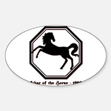 Year of the Horse - 1990 Sticker (Oval)