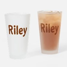 Riley Fall Leaves Drinking Glass