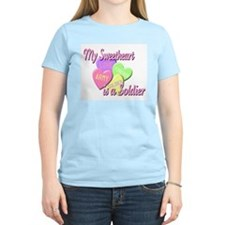 My Sweetheart is a Soldier Women's Pink T-Shirt