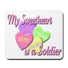 My Sweetheart is a Soldier Mousepad