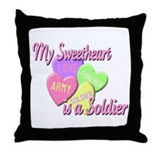 My Sweetheart is a Soldier Throw Pillow