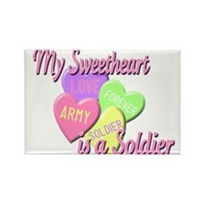 My Sweetheart is a Soldier Rectangle Magnet